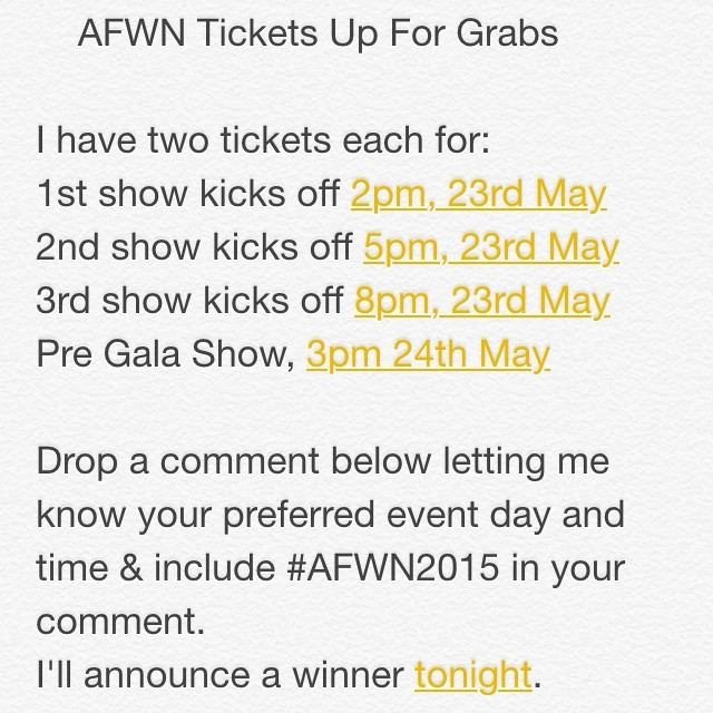 #AFWN15 freeness. READ 👆🏾 and WIN yours today.