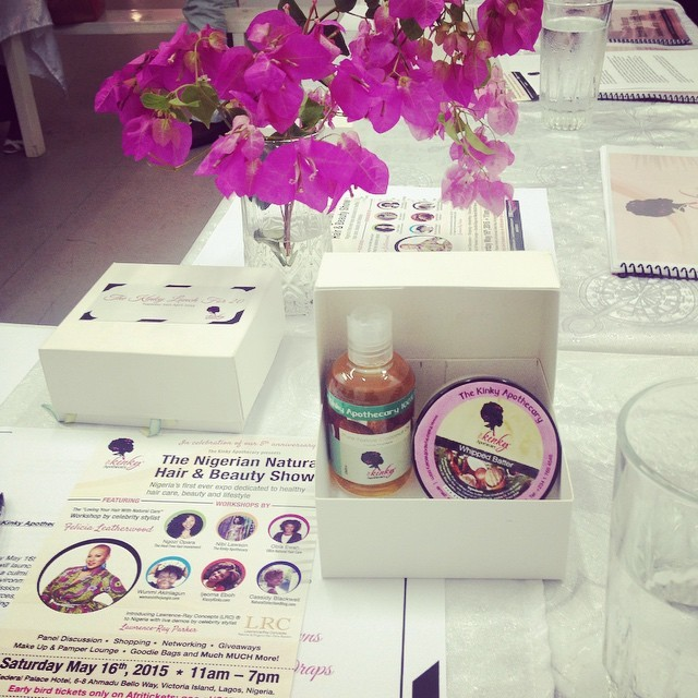 Earlier today at 'The Kinky Lunch for 20', listening to @kinkyapothecary talk about the upcoming Nigerian Natural Hair & Beauty Show at Federal Palace, 16th May 2015. Tickets on sale at Afritickets #4CHair ##4CHairChicks #RelaxedHair #Texlaxed #Transitioning #Hair #Beauty #Natural #Lifestyle   #KinkyApothecary