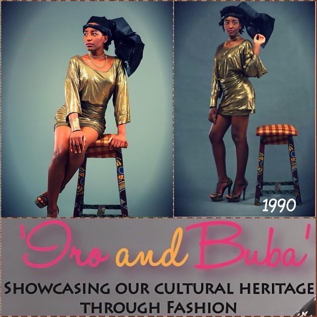 From Shakara Ologe to Konko Bellow, the 90's girl   #AFWNContest #AFWN2015 #AFWN #IroAndBuba #AsoEbi #Oleku #Gele