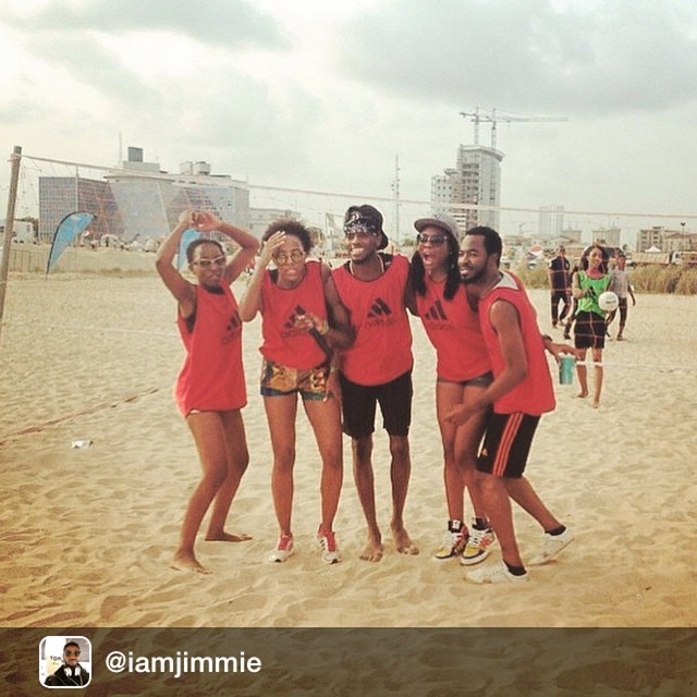 The people's favourite, the real winners ☺️#FadeFitStarz! #GCFest @iamjimmie via @fadeogunro @kemiadetiba and MVP @octhegreatukeje! Had a blast playing with you guys 👏 #GCF2015 #GCF #GidiCultureFestival