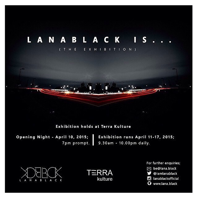 Repost from @lanablackofficial, The LanaBlack Is… exhibition! Open to public viewing on April 10, 2015 at Terra Kulture, Tiamiyu Savage Street, Victoria Island, Lagos. Time, 7pm. Save the date! #LanaBlackIs #NewFormPhotography #April10 #TerraKulture #Photography #Exhibition #Black #White #Deviant
