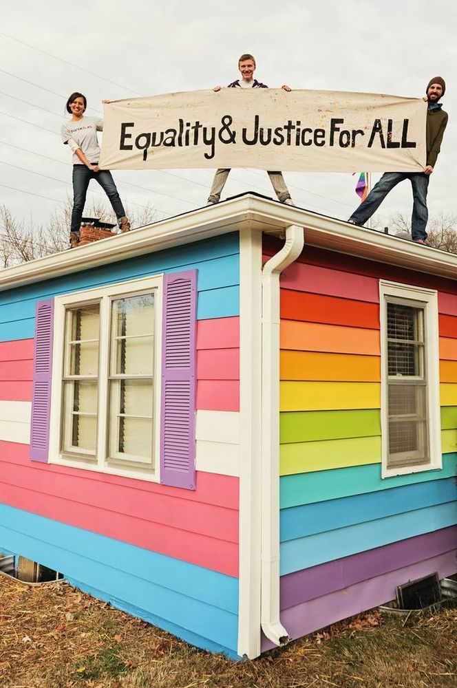 mysoulhasgrowndeep-liketherivers :    nirvxnxx :      remi-moose :      xmissxsyx :     Westboro Church's Neighbors: The Equality House     UGH MY HEART! I KNEW IT WAS RAINBOW BUT I DIDN'T KNOW THEY PAINTED THE OTHER SIDE THE TRANS COLOR. MY FEELS.      This is the best     trans inclusive queer rights is that shit i do like