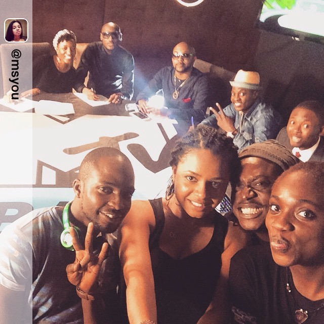 Repost from @msyou via So happy that our #mtvbasechooseorlose show trended today… I told you we got the A TV team yoooo #outtake #selfiestick @omobaswagz @abiose1 @phunkyjulia @orekagodis @soundsultan @2faceidibia1 @bankywellington