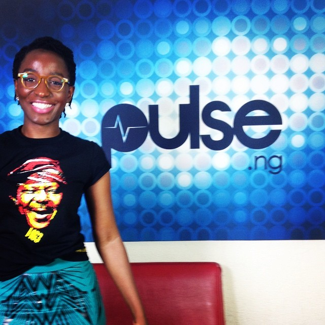 Disturbing the peace at @pulsenigeria247 earlier today. Thanks for having me guys! #PulseTV #PulseNigeria #AwkwardBlackGirl