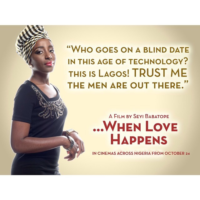 #WhenLoveHappens rolls out to cinemas starting from Nigeria on the 24th October 2014. Hello #Nollywood :)