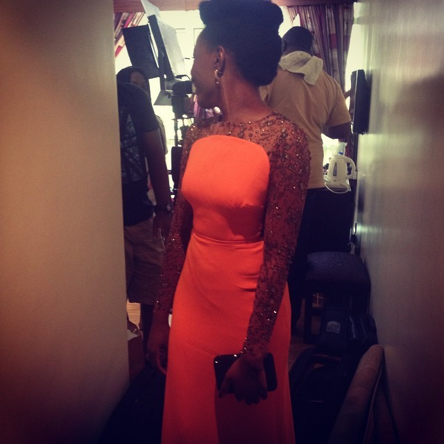 This dress. This dress!!!! I cried the first time I saw it and I still do a double take when I walk past my reflection in the mirror. As in, na me be this? Looking all human and ish. @peridotandruby thank you! @lolaashafa if you are ever in the market for a surrogate mom, my womb is available. Thank you! #PeridotAndRuby #MoAt50 #ELTV #LBR