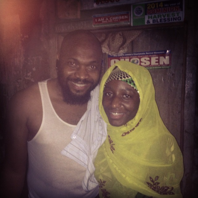 Mama and Papa #Timothy #AfriNolly #Nollywood cameras still rolling on set somewhere in #Kirikiri