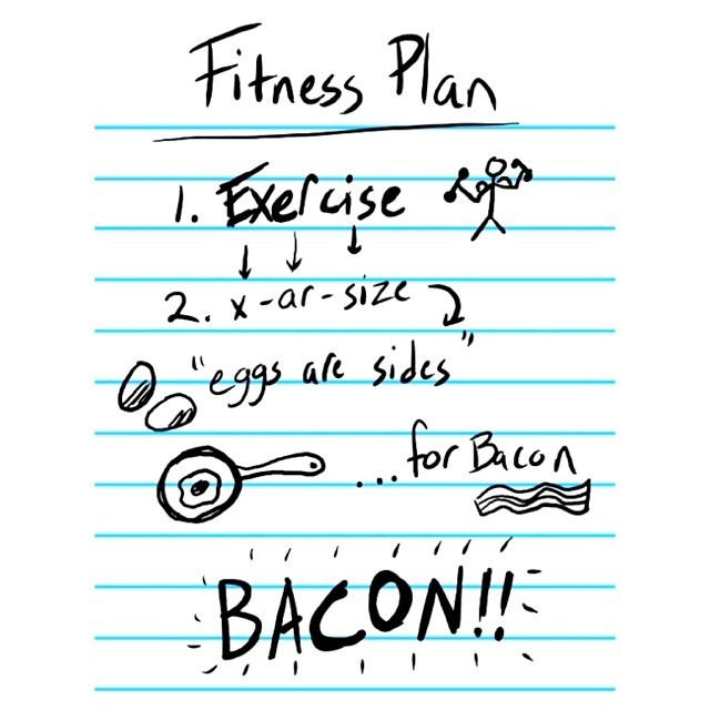 Right? Right? #Bacon!   But. Why won't bad foods just say no to me? Do they not understand I want a summer body that lasts a lifetime? How rude & thoughtless of them.
