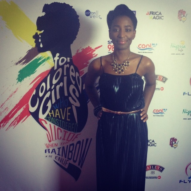 After the show is the #RedCarpet opp #ForColoredGirls styled by @yettyd thank you!