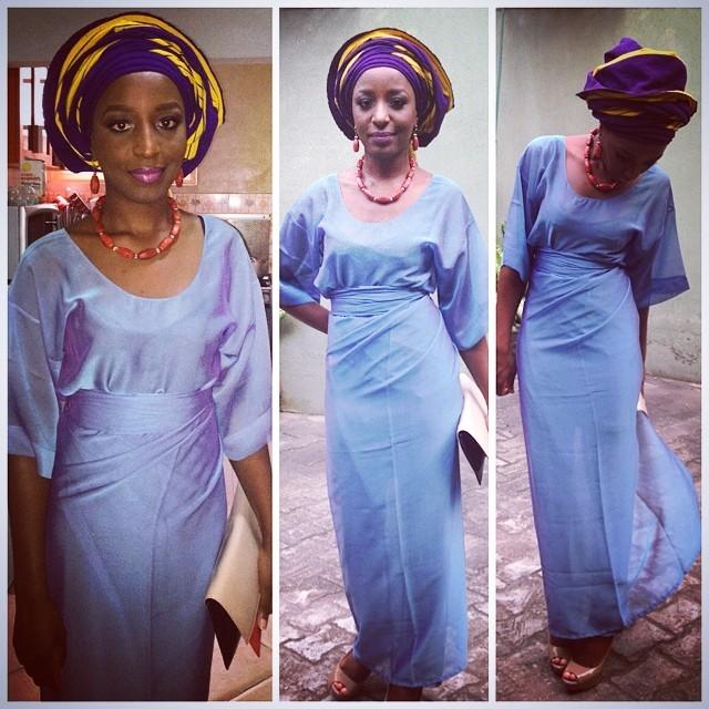 My first successful attempt at wearing iro and buba #DBWPalmer2014 #BunmiAndKay  #AsoEbiBella #Owambe #Turbanista gele tied by #GoldsBeautyHeaven