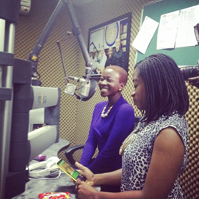 @dianayekinni and @adelaoye on air with Chico right now on Clasoc 97.3FM #ForColoredGirls