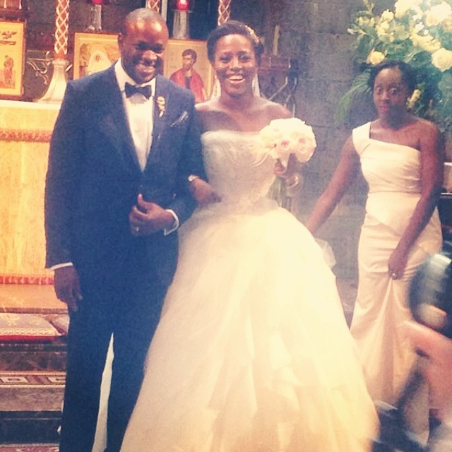 Dele and his Mrs Tola Balogun.   @tsunmonu  26.04.14   So precious!