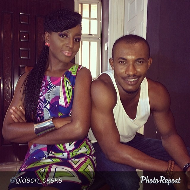 My arm looks so pathetic next to @gideon_okeke's