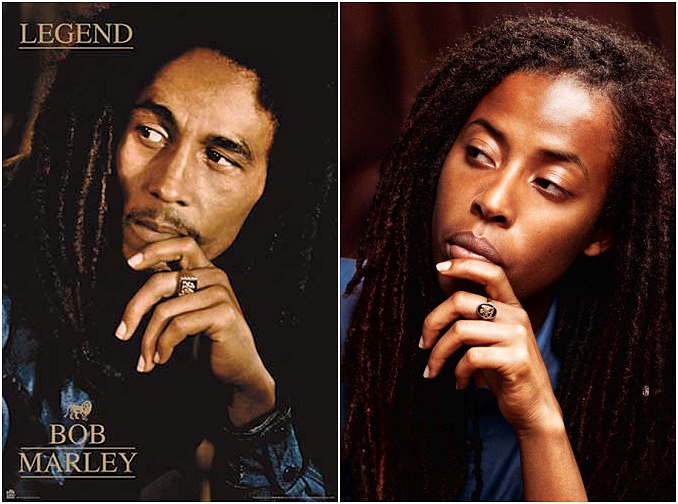 Bob Marley and his first grandchild, Donisha Prendergast.