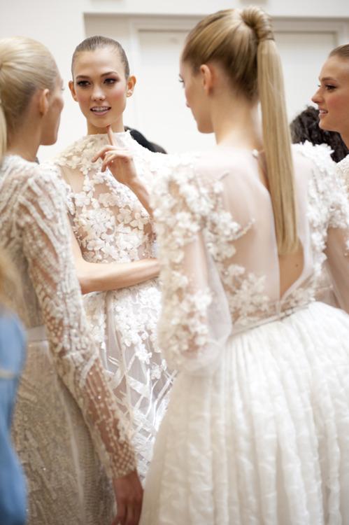 miloprada :     Karlie Kloss, Anja Rubik, Daria Strokous & Sigrid Agren, SS 2012 haute couture.