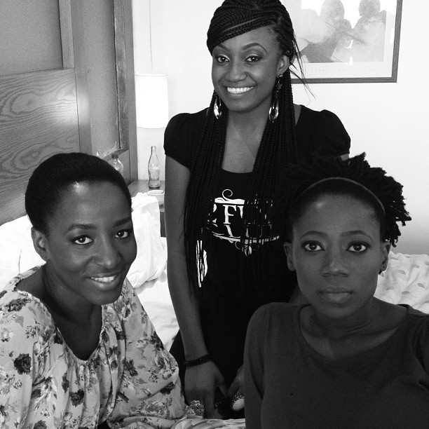 Me and my girlies @omaliicha @tosynbucknor #DuvetDiaries