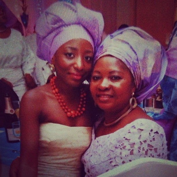 With the beautiful Mrs M. Ignore my questionable gele tying skills.