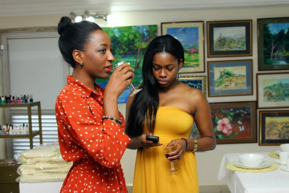 """OREKA GODIS in """" SISI  FADEKE """"at a  recent event in L'Espace . Sisi Fadeke is part of the Eclectic By Sasha Inception collection."""