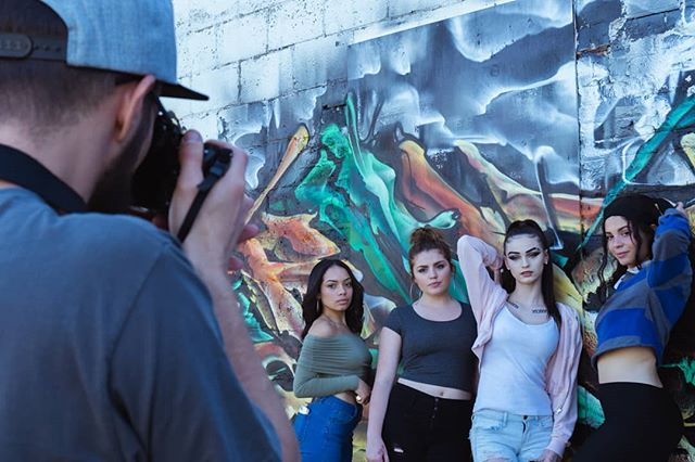 Have you noticed all the beautiful new murals and graffiti in our city?! We have, and last weekend we got a crew together for a photo and video shoot. Enjoy this #BTS shot while we work on more edits. 📸: @roobxcube  Edit: @jeffkressjr
