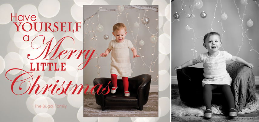 Portland Maine Holiday Portraits in Studio with Christmas Cards