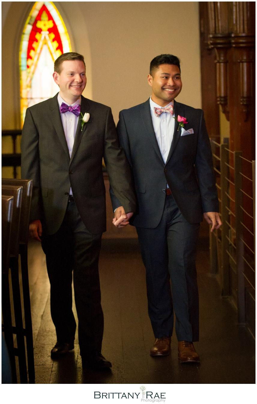 Same Sex Grace Restaurant Wedding Photographer