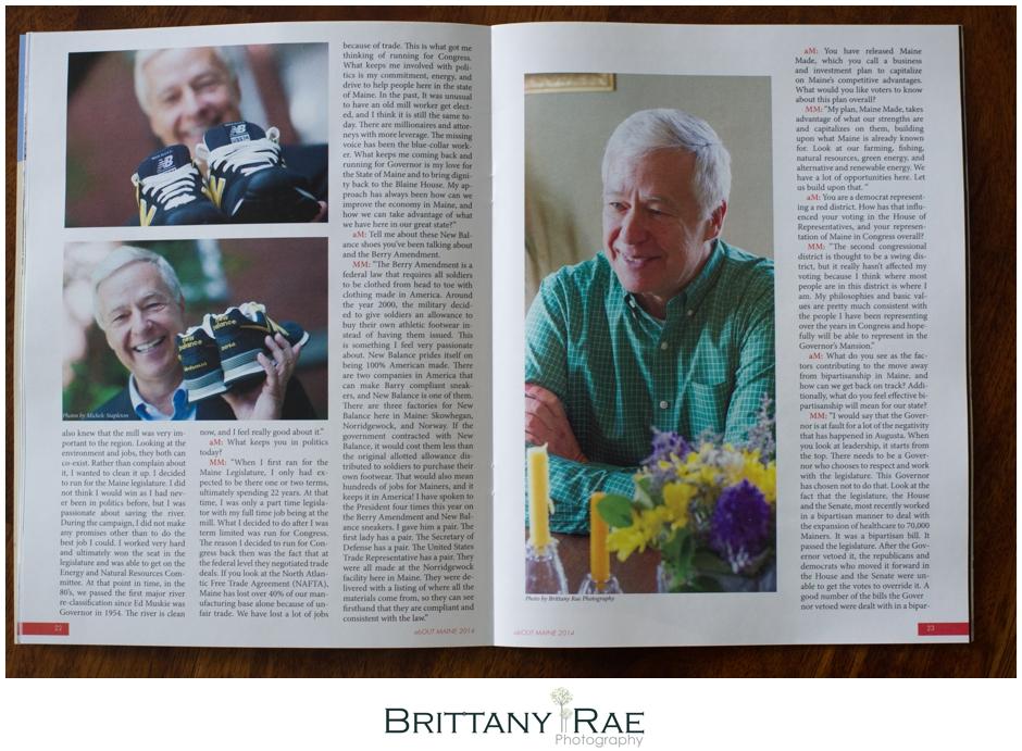 Maine Gay Magazine editorial Photographer