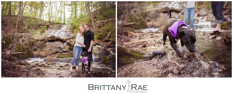 Portland Maine Waterfall Engagement