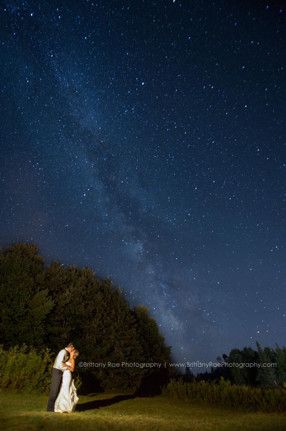 Milky Way Wedding Photographer, Brittany Rae Photography