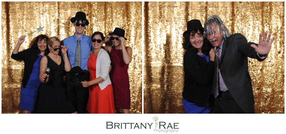 Gold Sequin Photo Booth in Maine by Brittany Rae Photography