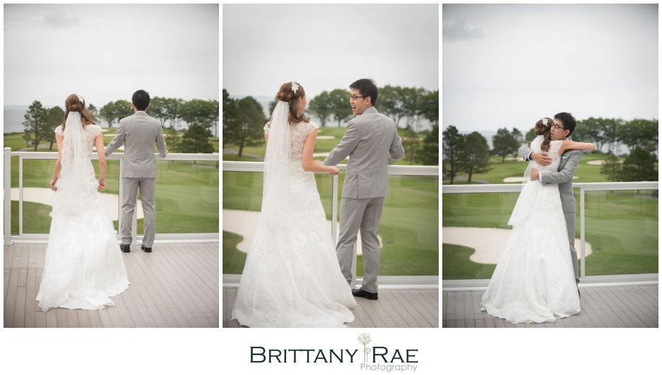First Look by Samoset Resort Wedding Photographer, Brittany Rae Photography
