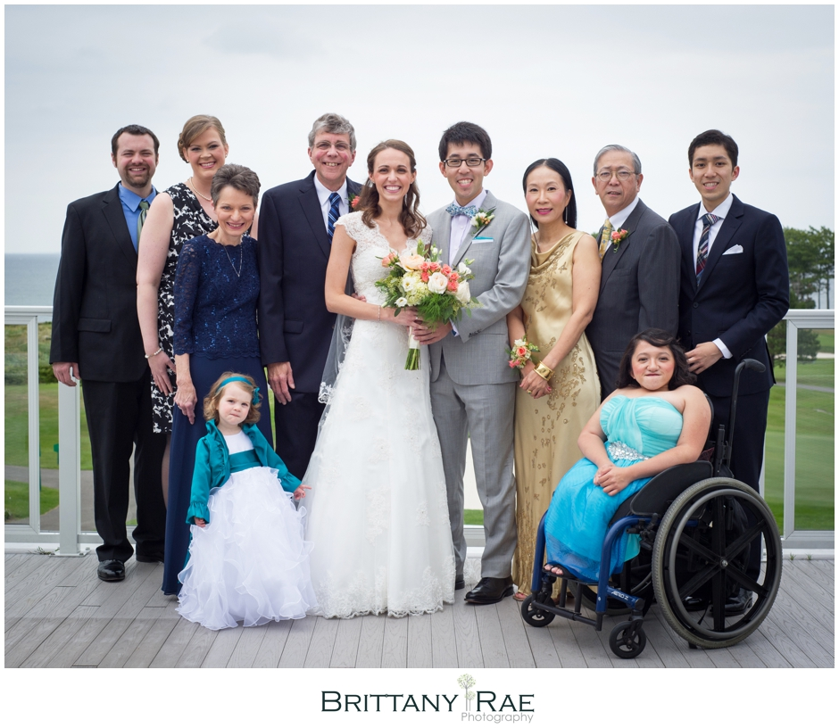 Wedding Party Portraits with wheelchair, by Samoset Resort Wedding Photographer, Brittany Rae Photography