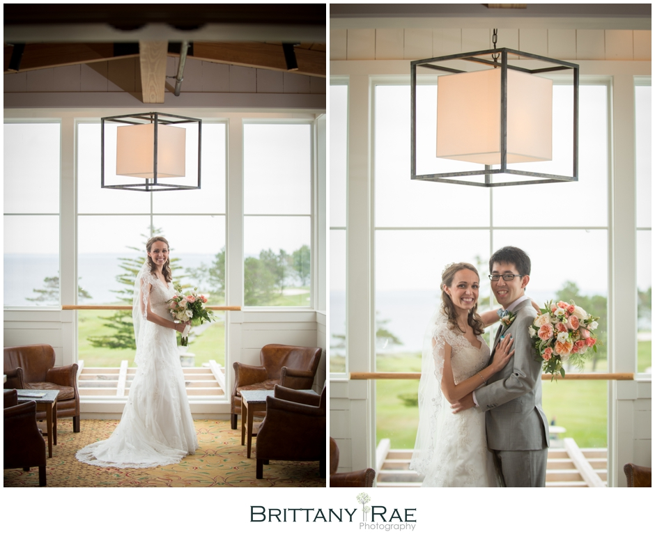 Architectural Bride Portraits by Samoset Resort Wedding Photographer, Brittany Rae Photography