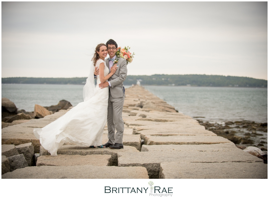 Lighthouse wedding photography by Samoset Resort Wedding Photographer, Brittany Rae Photography
