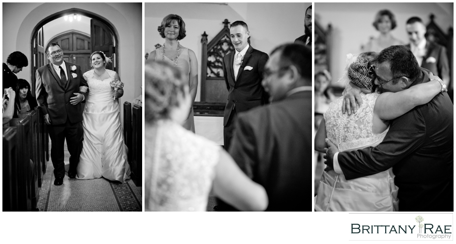 groom crying at the alter, by Maine Wedding Photographer Brittany Rae Photography