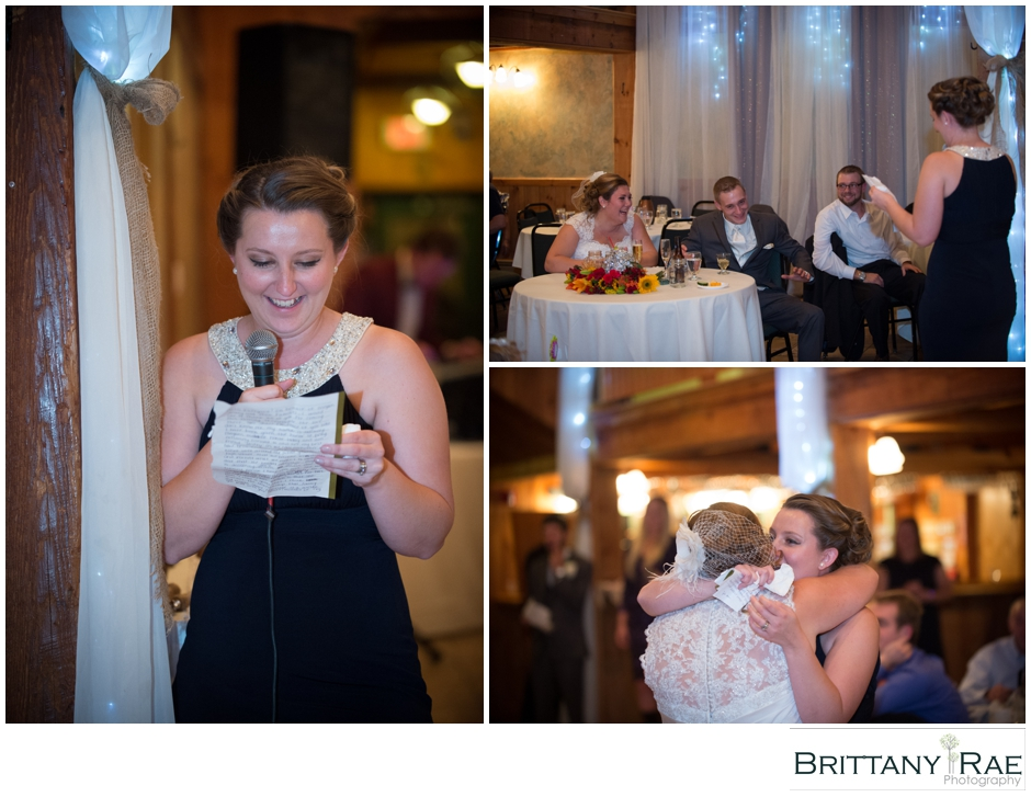 Maid of Honor Speech by Maine Wedding Photographer Brittany Rae Photography