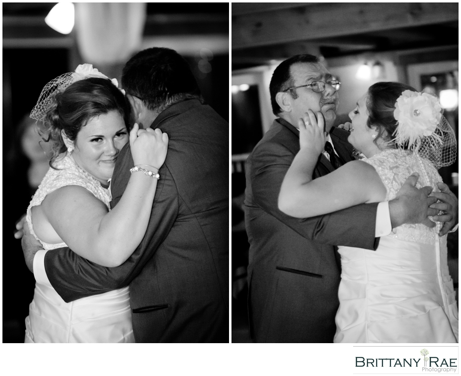 Father daughter dance by Maine Wedding Photographer Brittany Rae Photography