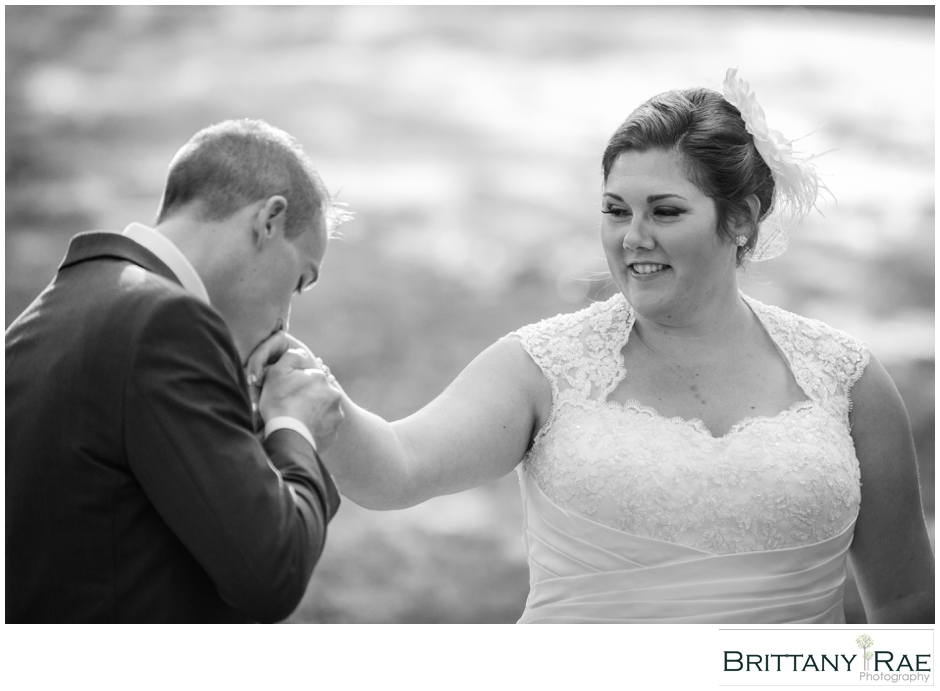 sweet moment between bride & groom, by Maine Wedding Photographer Brittany Rae Photography