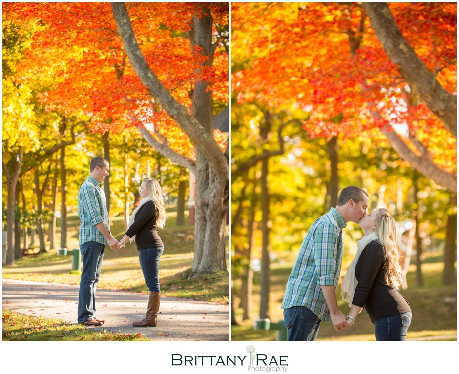 Fall Engagement Session at Portland Head Light by Maine Wedding Photographer Brittany Rae Photography