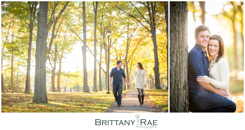 Fall engagement in Portland Maine by Brittany Rae Photography