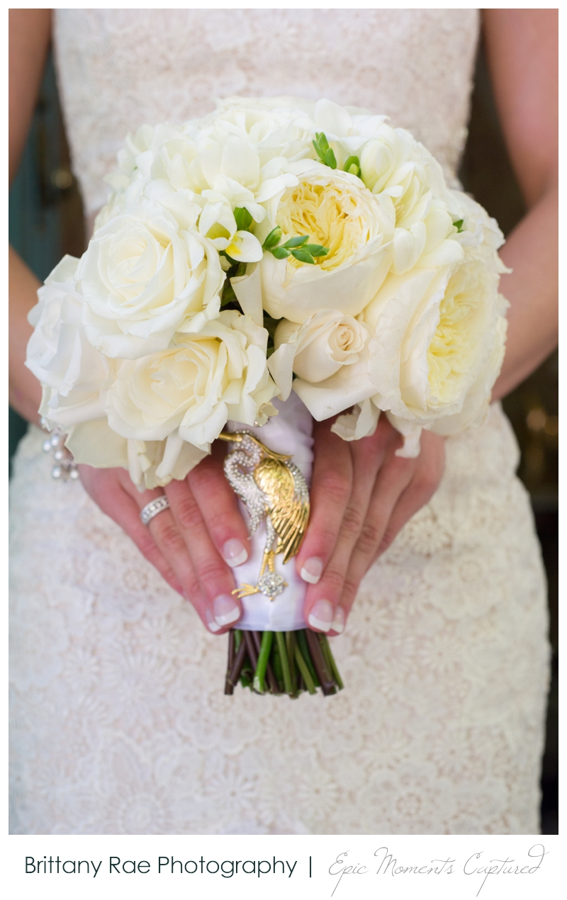 Laurie Andrews Event Design - White Wedding Bouquet, by Maine Wedding Photographer, Brittany Rae Photography