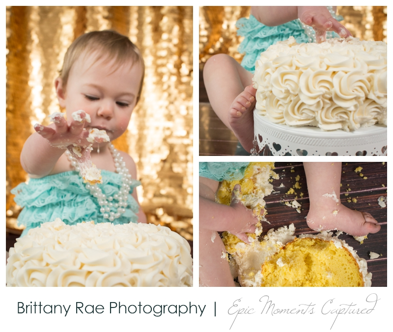 First Birthday Cake Smash by Maine Family Photographer, Brittany Rae Photography