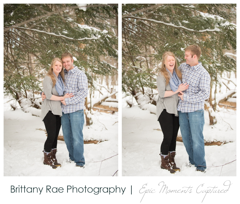 Winter Engagement Session by Maine Wedding Photographer Brittany Rae Photography