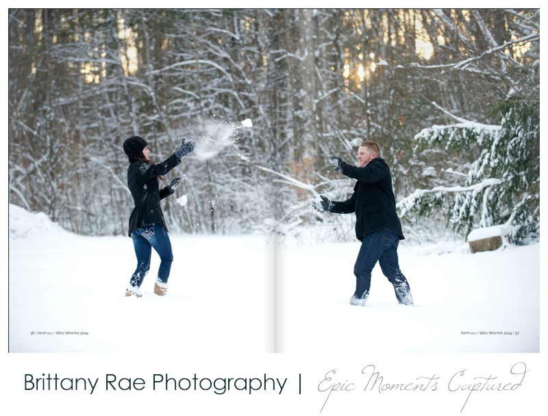 01_Maine Wedding Photographers published in Artfully Wed Magazine for a Winter Engagement Session