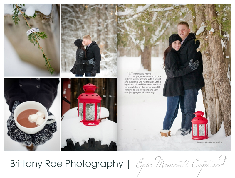 02_Maine Wedding Photographers published in Artfully Wed Magazine for a Winter Engagement Session