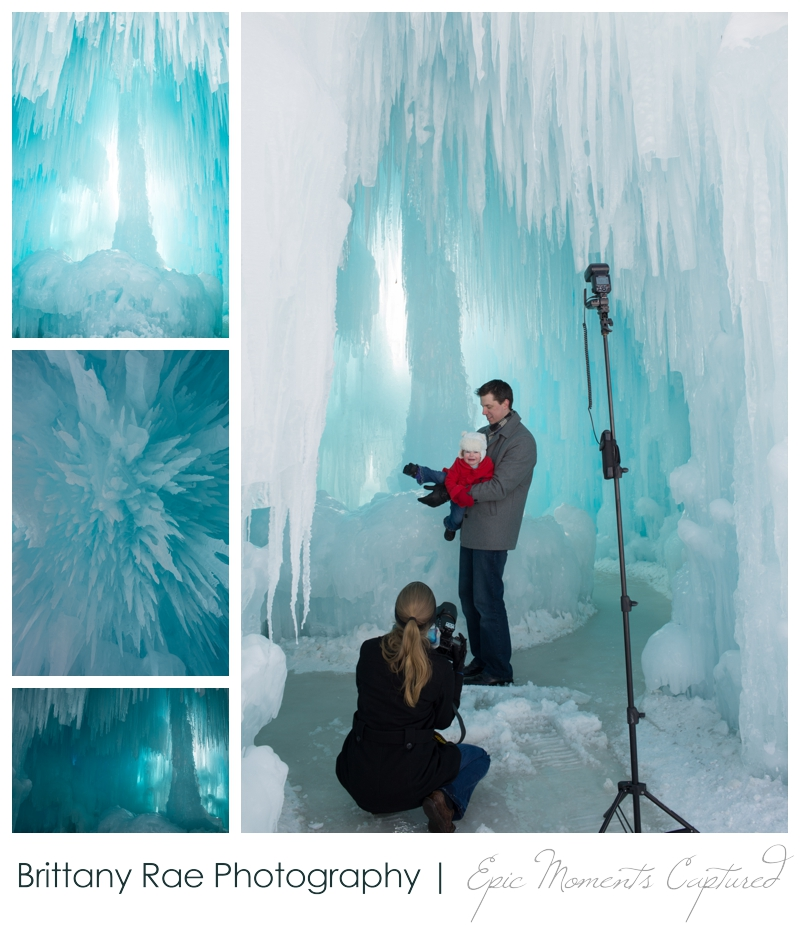 Ice Castles NH Family Portraits - behind the scenes