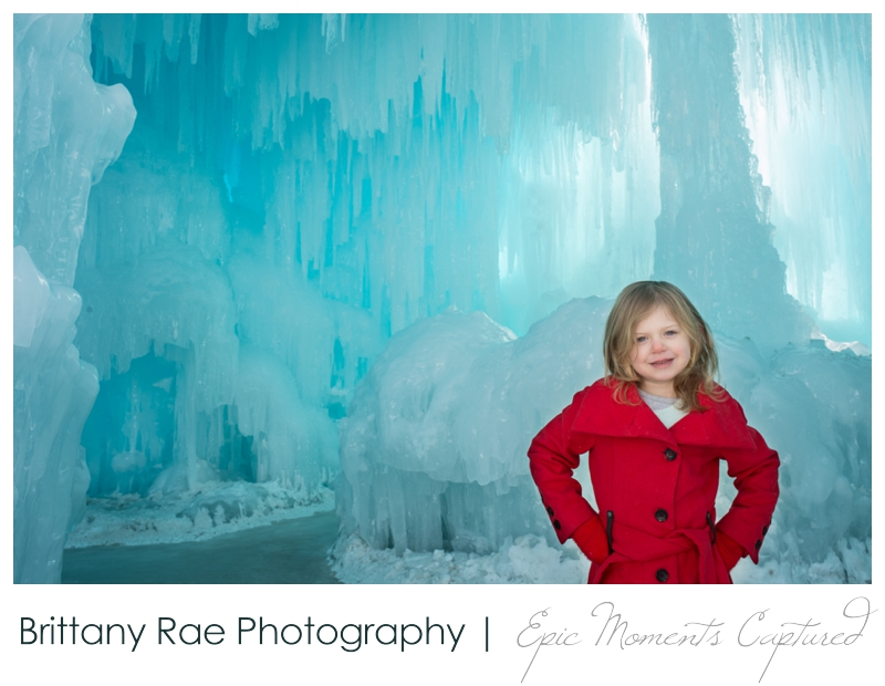 Ice Castles NH Family Portraits - stylized children portraits