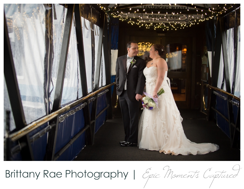 Dimillo's Floating Restaurant wedding photos - wedding portraits with twinkle lights
