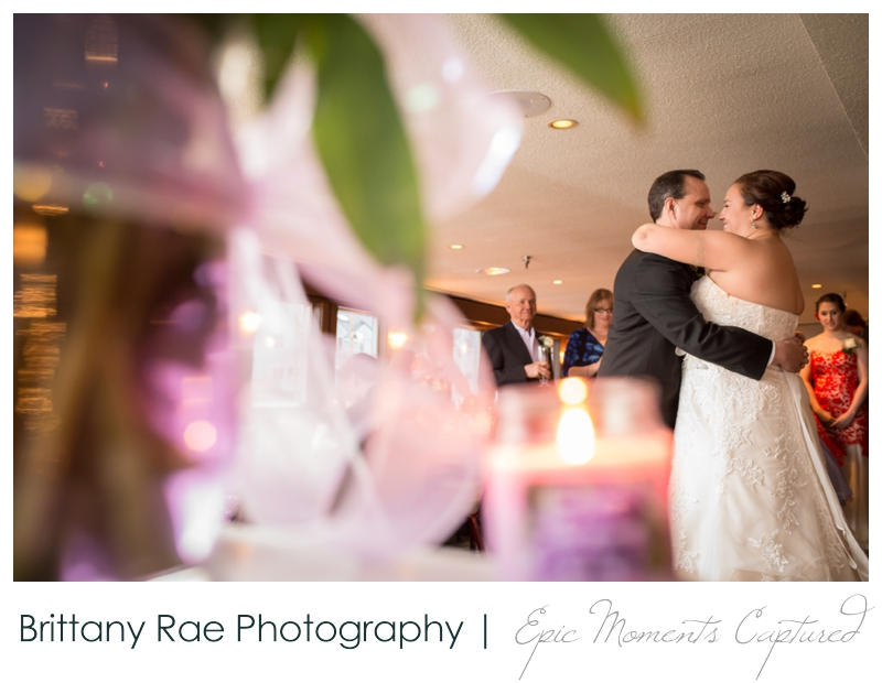 Dimillo's Floating Restaurant wedding photos - first dance with flowers