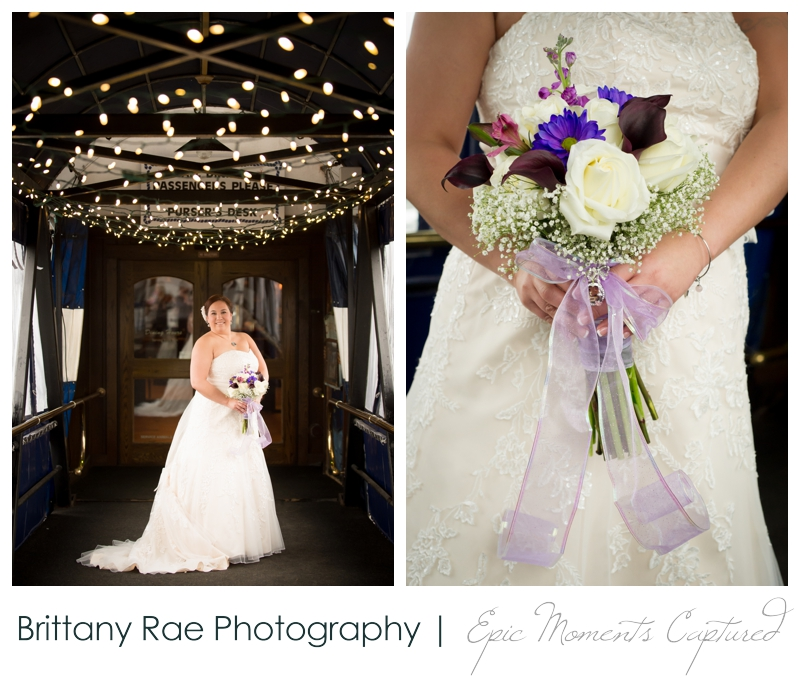 Dimillo's Floating Restaurant wedding photos - bridal portraits with twinkle lights