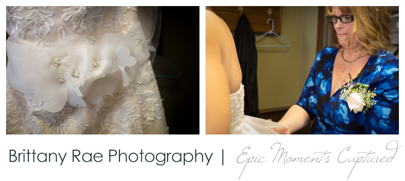 Dimillo's Floating Restaurant wedding photos - getting laced into brides dress